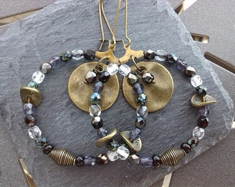 Creole bronze sequin and beads
