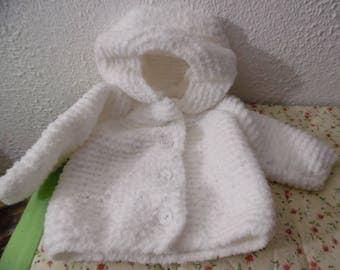 ORDER small white hooded vest
