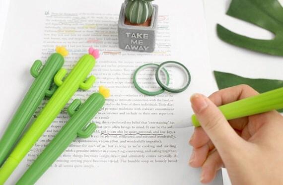 Cute cactus pens