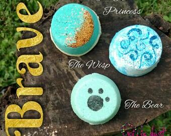 Brave, Merida inspired mini bath bomb set, princess