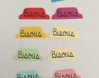 set of 10 labels kisses cuts
