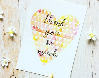 Thank You Postcard, Thank You cards