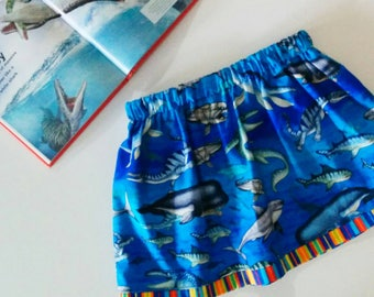 dino skirt | science skirt | reptiles skirt | skirt with pockets | dinosaur clothes | dinosaur kids | science clothes | size 2-10