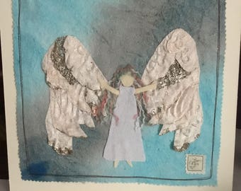 White Angel mixed media picture