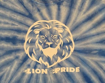 Tie-Dye T-Shirt with Lion Head