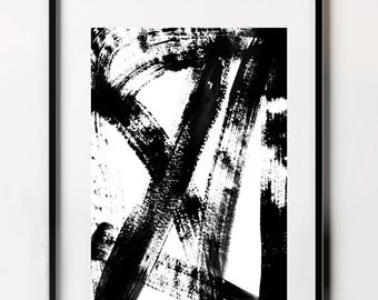 Black and White Pattern Print, Contemporary Prints, Wall Art, Minimalist Poster, Abstract Fine Art Print