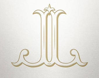 Baroque Monogram Design - JJ - Baroque Monogram - Digital