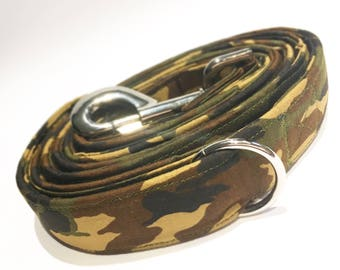 Woodland Camo Dog Collar, Lead or Bandana