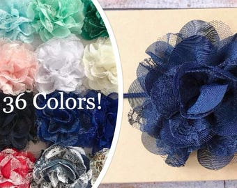 PICK 1 Chiffon Flower Headbands/Baby Headband/Infant Headband/Newborn Headband/Baby Girl Headband/Baby Hair Bow/Toddler Headband/Headband