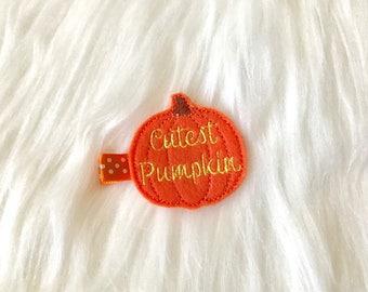 Halloween Hair Clip, Halloween Hair Bow, Baby Hair Clip, Baby Girl Hair Clip, Girl Hair Clip, Clippie, No Slip Hair Clip, Baby Barrette