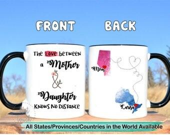 Moving away for mom,Long distance mom mug,Canada province mug,mom long distance,long distance daughter gift for mom,moving states mug,