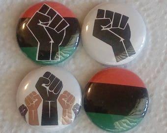 Black Power 25mm Badge