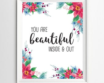 You are beautiful print nursery gift childrens wall art Kids Wall Art Print Nursery Wall art Decor Playroom decoration nursery decor