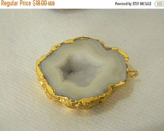 on sale 80% Discount Druzy Pendants With Electroplated Gold Edge Charms Wholesale Price Handmade Size 32MM Approx