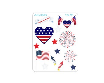 Fourth of July Sampler | Planner Stickers Designed to fit the Erin Condren Life Planner