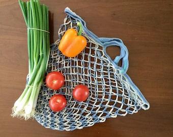 Crochet string bag, Market string bag, Cotton string, Classic European market bag foldable reusable lightweight eco-friendly gift