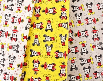 Disney Mickey&Minnie Mouse Character Fabric Camelot fabrics by the Half Yard