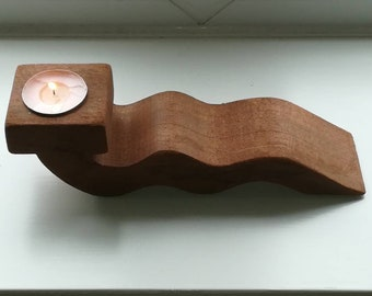 Quirky tealight holders in hardwood