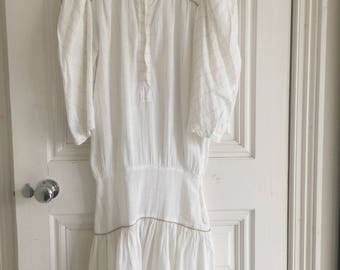 white silver and gold flex dress 1980's summer