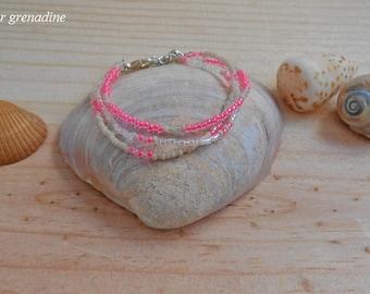 Minimalist beaded bracelet with seed beads miyuki, birthday gift, mother's day