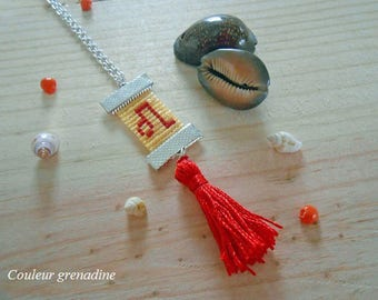 Woven necklace astrological sign lion, gift idea mother grandmother, Easter