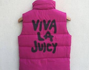 Juicy Couture Bomber Jacket Reversible Pop Art