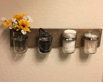 Mason jar storage caddy