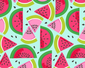 Watermelon in Smashed Blue- Maude Asbury-Tutti Frutti