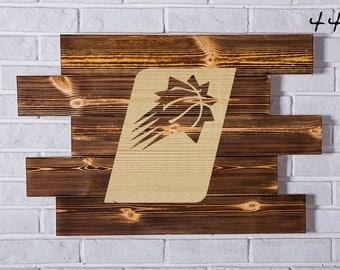 Phoenix Suns Wood Sign Phoenix Suns Wall art Phoenix Suns Gift Phoenix Suns Birthday Phoenix Suns Party wooden