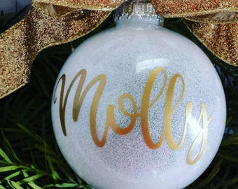Personalized Ornament, Custom Christmas Ornament, Personalized Name Ornament, Christmas Gift, Personalized Gift, Holiday Gift