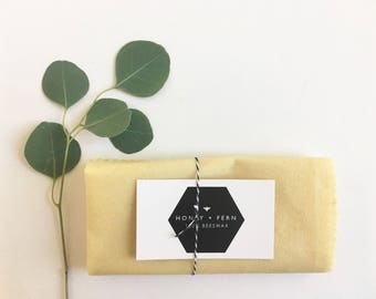 Large Beeswax Wrap - reusable food wrap >> beeswax cover, beeswax wrap, all-natural, local beeswax