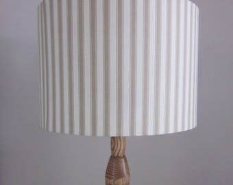 Handmade Lampshade Cotswold Oatmeal Stripe