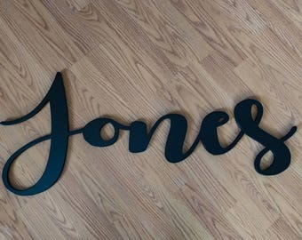 """55"""" Wood Name Cutout, Custom Wooden Name Sign, Baby Names, Baby Name Cutout, Large Name Cutout, Wooden Name Cutouts, Wood Nursery Name Sign"""