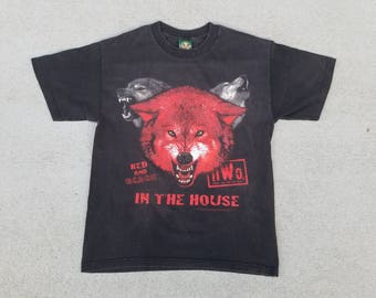 15%OFF Vtg 1990s NWO New World Order Wrestling T Shirt | Vintage Retro Red Black | Mens Large