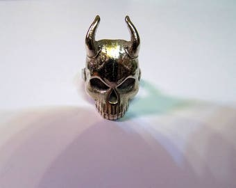 SmokeQuest - Devil Skull Ring - Steel