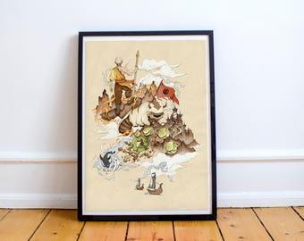 Avatar: the Last Airbender Art Print