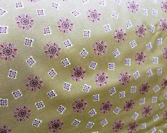 Dark Green Medallion Fabric, Sotlo by BJ Lantz, Green Fabric by the Yard, Green Floral Fabric