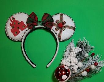 Home for the holidays Minnie Ears, Christmas Ears, Christmas Minnie Ears, Holiday Ears