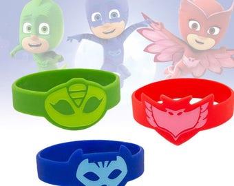 PJ Masks Inspired Wristbands for Owlette, Catboy and Gekko - Bracelets