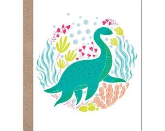 Nessie Card | Lochness Monster | Mythical Creatures | Fantasy