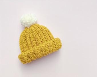 Crochet Beanie | Crochet Hat | Pom Pom Hat | Childrens Hat | Newborn | Pom Pom | Custom | Bobble Hat