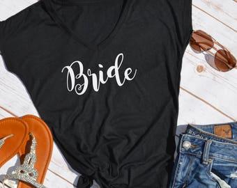 Bride shirt- bride- bridal party shirts- honeymoon shirt- wedding day shirt- bachelorette party shirt