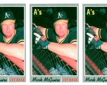 3 - 1992 Baseball Card Monthly #60 Mark McGwire Baseball Card Lot Athletics