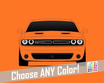 Dodge Challenger Poster // Colorful Car Posters