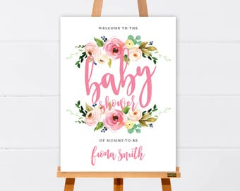 Welcome Sign | Baby Shower Welcome Sign | Bridal Shower Welcome Sign | Customised Printable