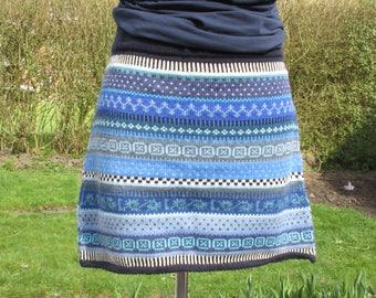 Colorful knit skirt Aenne Gr. L