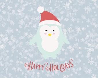 Penguin Christmas Svg Svg Santa hat svg svg Santa christmas svg svg christmas svg christmas svg file design silhouette cricut svg svg files