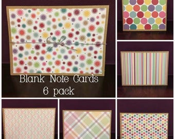Blank Homemade Notecards, 6-Pack for ANY occasion!