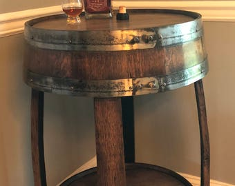 Whiskey Barrel Pub Table ~ Handcrafted From A Whiskey Barrel   Bistro Table
