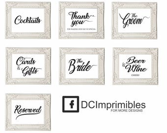 Signs Wedding Printable.